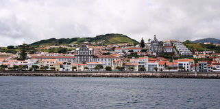 Horta - the capital of Faial island, Azores Islands Royalty Free Stock Images