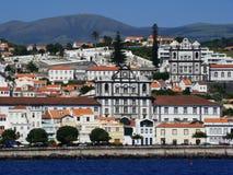 Horta_city_Faial_Azores Royaltyfria Bilder