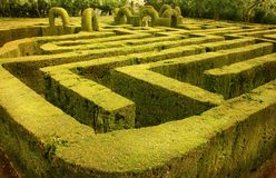 Green labyrinth in Barcelona, Spain Stock Image