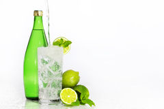 Hortelã do cal da água gasosa Foto de Stock Royalty Free