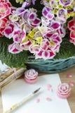 Hortensi macrophylla (hortensia kwiat) Zdjęcia Royalty Free
