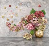 Hortensia flowers bouquet Floral arrangement Royalty Free Stock Image