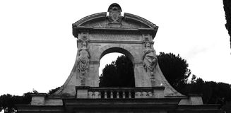 Horti Palatini, Rome, italy. Detail of Palantine Hill Entrance Arch Royalty Free Stock Photography
