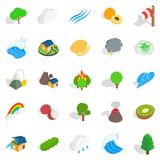Horticulture icons set, isometric style Stock Photography