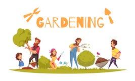 Horticulture kreskówki ilustracja ilustracji