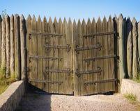 Hortitsa Portas de madeira do vintage Foto de Stock