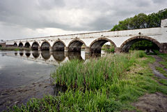 Hortobagy Bridge royalty free stock photos