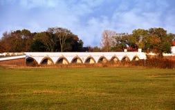 Hortobagy nio-hål bro Royaltyfri Bild