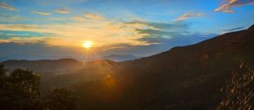 Horton Plains Lever de soleil photos libres de droits