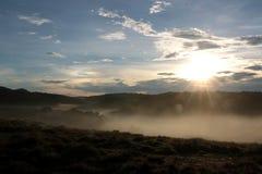 Horton Plains National Park in de ochtend Royalty-vrije Stock Foto's
