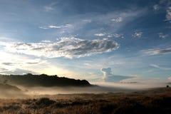 Horton Plains National Park pendant le matin Photos stock