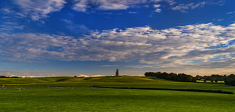 Horton Tower, a folly in East Dorset at sunset Royalty Free Stock Image