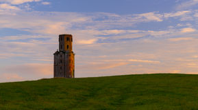 Horton Tower, a folly in East Dorset at sunset Royalty Free Stock Photos