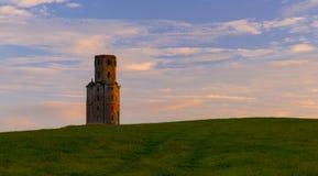 Horton Tower, une folie dans Dorset est au coucher du soleil photos libres de droits