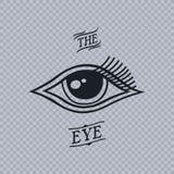 horus的所有看见的眼睛 库存例证