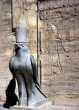Horus,埃德富寺庙  图库摄影