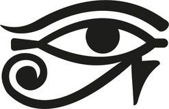 Horus öga Egypten royaltyfri illustrationer