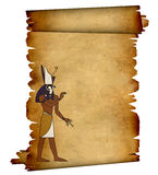 Horus. Scroll with Egyptian god Horus image. Object over white Royalty Free Stock Photography