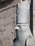 Horus. Statue of Horus, Edfu Temple, Egypt royalty free stock images