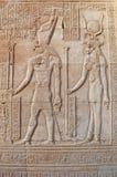Horus & ISIS a Luxor Fotografia Stock Libera da Diritti