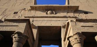 HORUS bóg W EDFU świątyni Zdjęcie Stock