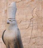 HORUS bóg W EDFU świątyni Zdjęcia Royalty Free