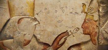 Horus en de Farao stock afbeeldingen