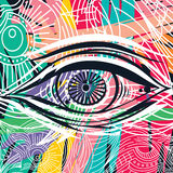 Horus eye abstract art Stock Images