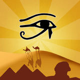 Horus eye vector illustration