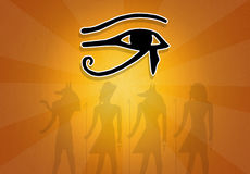 Horus eye royalty free illustration