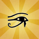 Horus eye Stock Photography