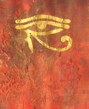 Horus Eye painting Stock Image