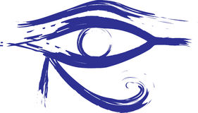 Horus Eys. Illustration represents a horus eye which means in Pharaohs age protection stock illustration