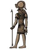 Horus, god of ancient Egypt Royalty Free Stock Photo