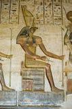 Horus Gott auf Thron Lizenzfreies Stockfoto