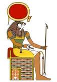 Horus isolerat diagram av den forntida Egypten guden Fotografering för Bildbyråer