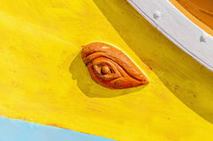 Horus or Osiris eye in Luzzu at Marsaxlokk, Malta Royalty Free Stock Photography