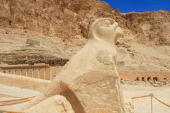 Horus sculpture of  Queen Hapshepsut temple Stock Photos