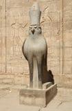 Horus statua przy świątynią Edfu w Egipt Obrazy Royalty Free