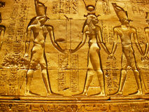 Horus Temple at Edfu - Detail. The Temple of Edfu is an ancient Egyptian temple located on the west bank of the Nile in the city of Edfu which was known in Greco royalty free stock image