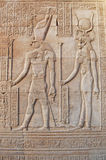 Horus u. Isis in Luxor Lizenzfreie Stockfotografie