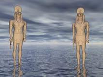 Horus, welches die Meere schützt Stockfotografie