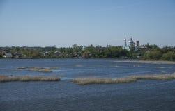 Horyn river, Iziaslav Stock Photo