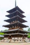 Horyu-ji świątynia w Nara, Unesco światowego dziedzictwa miejsce, Japonia obrazy royalty free