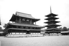 Horyu ji tempel, Nara Japan stock afbeeldingen
