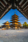 Horyu-ji Temple in Nara, Japan Stock Photos