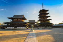Horyu-ji Temple in Nara, Japan Royalty Free Stock Photo