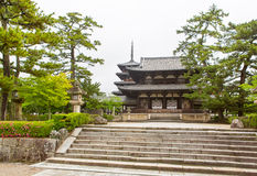Horyu-ji Temple in Nara, Unesco world Heritage site, Japan Stock Image