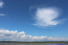 horyzont chmury Obrazy Royalty Free