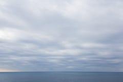 Horyzont przy zmierzchem na morzu Zdjęcia Royalty Free